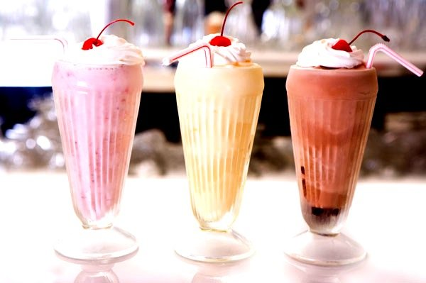 cherry, chocolate, dessert, milkshake, strawberry, sweet, vanilla, whip cream