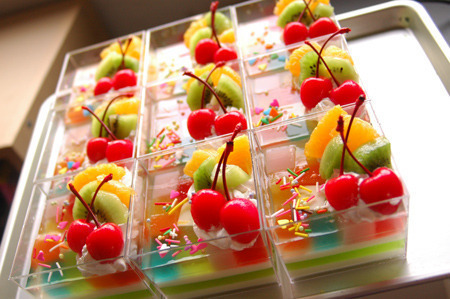 cherry, colorful, cute, delicious, dessert, food, fruit, gelatin, kiwi, photography