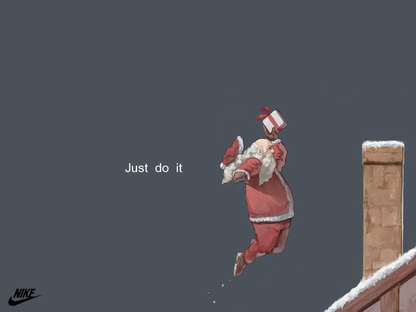 christmas, gifts, jump, just do it, nike
