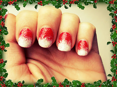 christmas, glitter, nail art, nail polish, nailpolish, nails, party, snow, winter