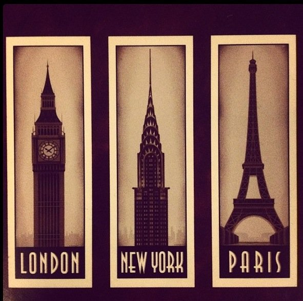 city, london, new york, paris