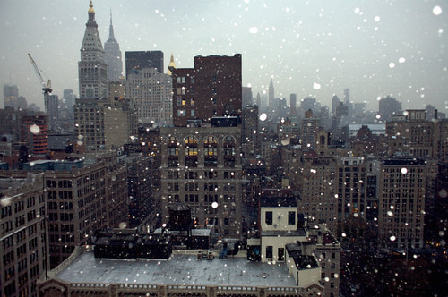 cityscape, new york, place, winter