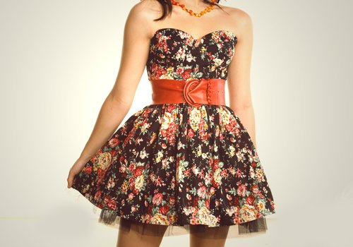 clothes, dress, fashion, floral, love