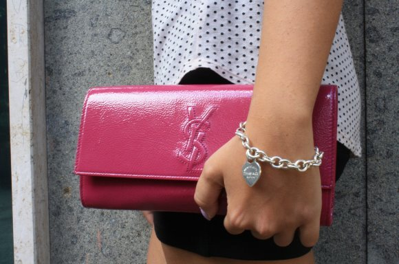 clutch, colorful, fashion, gold, lipstick
