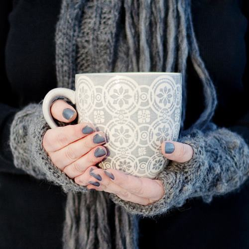 coffee, comfort, cup, gloves, gray