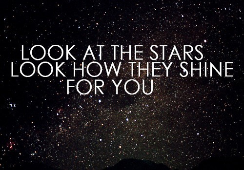 coldplay, lyrics, music, song, star, typography, yellow