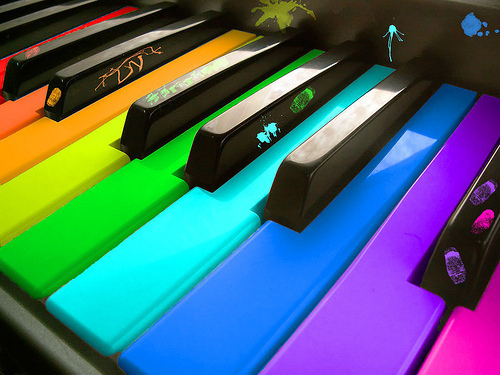 color, colorful, colourful, colours, instrument, music, piano