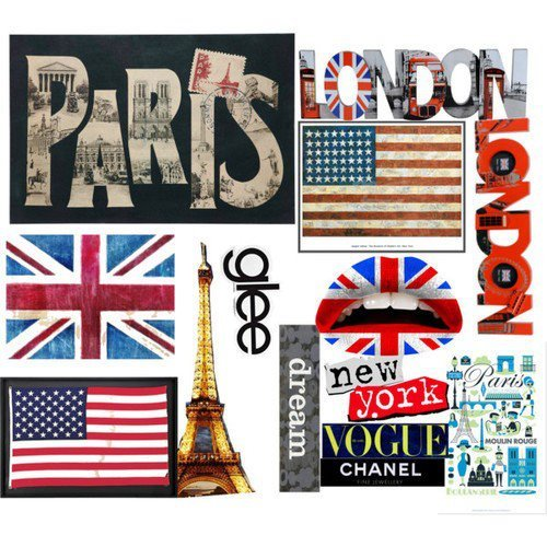 colourful, england, glee, london, paris, places, text, united states, vogue