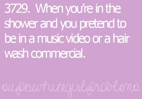 commercial, funny, girl, love, pretend, problems, purple, shower, super, super white girl problems, swagg, swaqq, swgp, wash, white hair