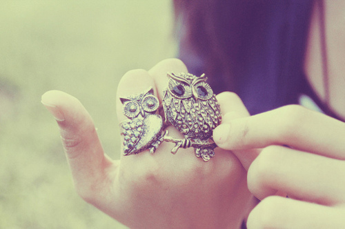 cool, cute, fashion, finger, girl, girls, glam, owl, owls, photo, pretty, ring, rings, style, sweet, tips, vintage, vintages
