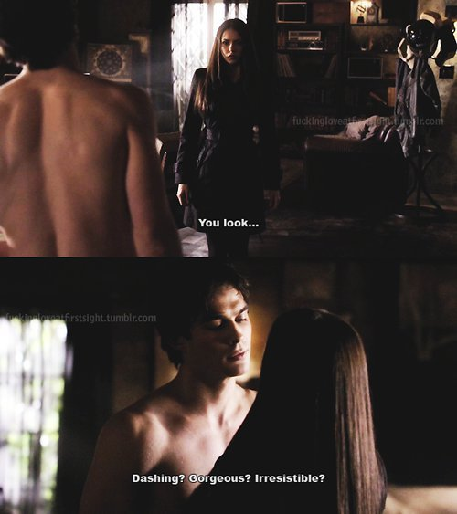 couple, cute, damon, damon and elena, damon salvatore