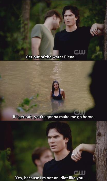 couple, cute, damon, damon salvatore, elena