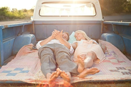 couple, love, photography, truck