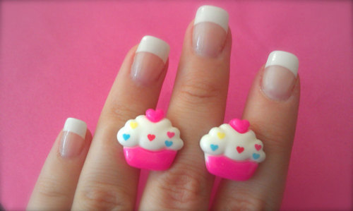 cupcake, cupcakes, cute, fashion, french manicure