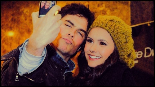 cute, damon, dobrev, gilbert, ian, inter, love, nina, pretty, salvatore, somerhalder, vampire, vampire diaries