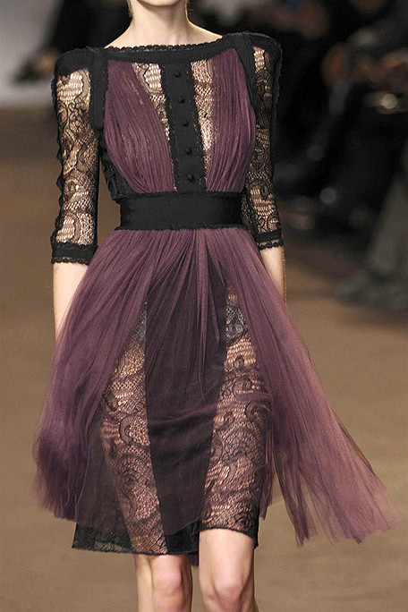 cute, dress, fashion, lace, love, purple, runway