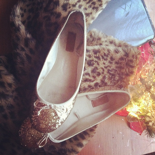 cute, fashion, flats, gold, golden
