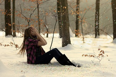 cute, fashion, girl, hair, nature, photography, snow, winter