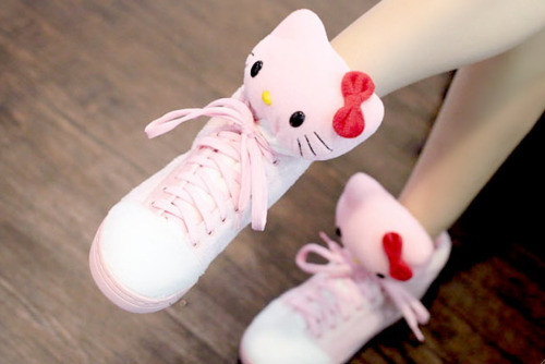 cute, fashion, hello kitty, pink, shoes