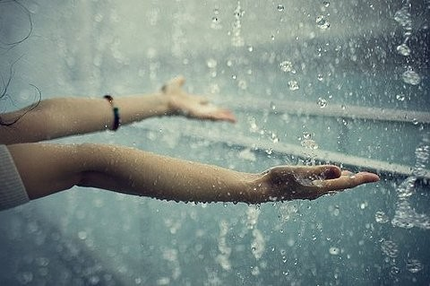 cute, girl, photography, rain, raindrops