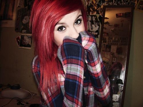 cute, girl, red hair