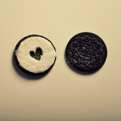 cute, heart, love, oreo