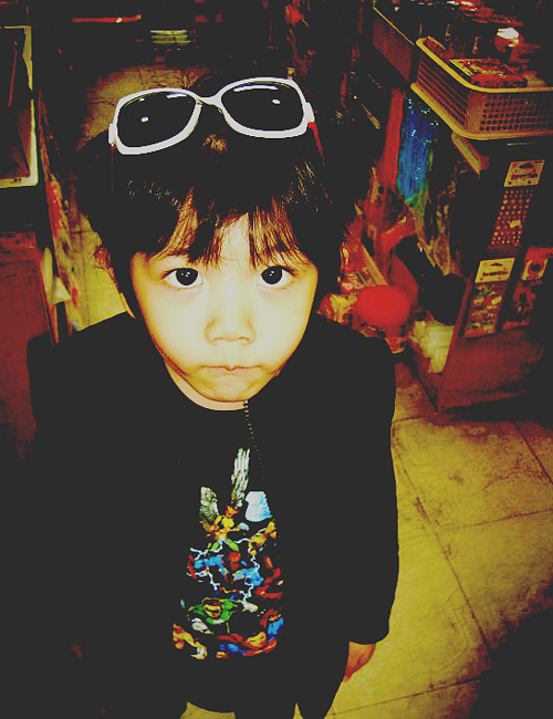 cute, hello baby, kid, korean, shinee, sunglasses, yoogeun