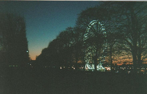 dark, dusk, film, film grain, hipster, indie, night, vintage
