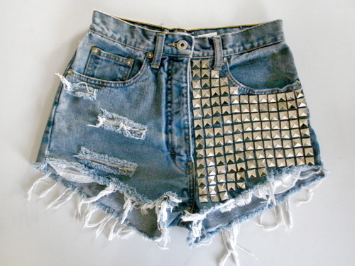 denim, fashion, shorts, studs, want