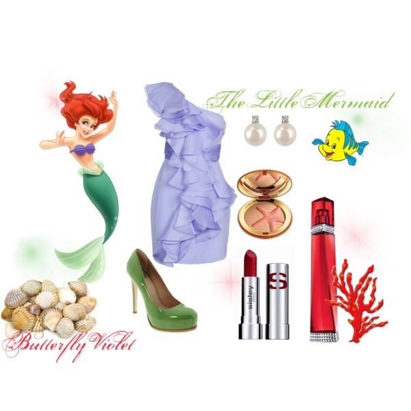 disney, polyvore, princess, the little mermaid