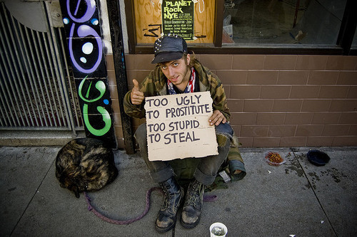 dog, funny, guy, hobo, homeless, lol, prostitute, quote, quotes, slut, street, stupid, true, ugly, whore