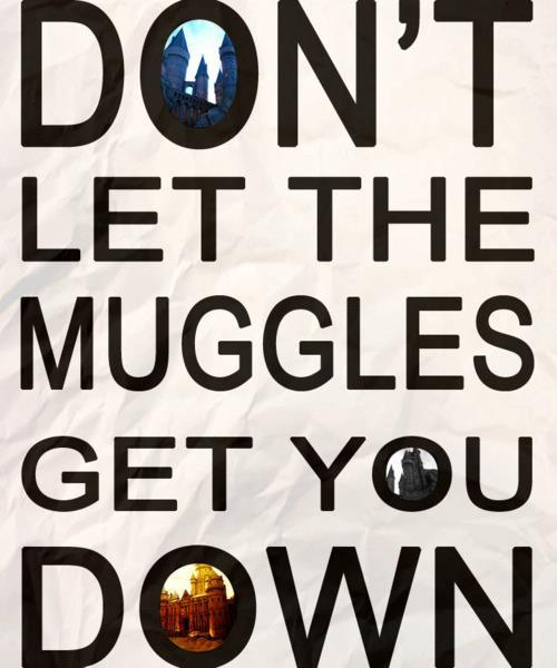down, harry, harry potter, hogwarts, magic, morning, muggle, muggles, optimistic, potter, quote