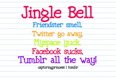 facebook, friendster, fuck, jingle bell, lol