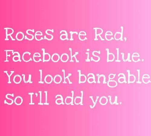 facebook, funny, pink, roses, roses are red