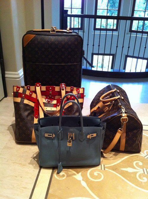 fashion, girl, heels, hermes birkin, louis vuitton, luggage, pink, prada, pumps, shoes, style