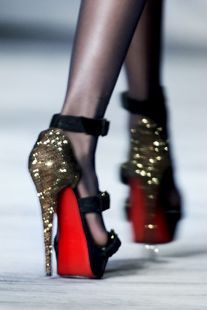 fashion, gold, red, shoes