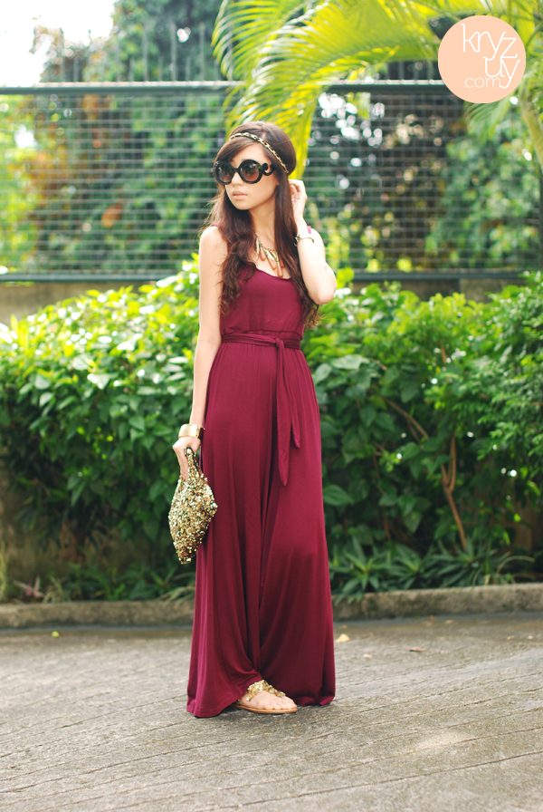 fashion, kryz uy, maxi dress, model, sandals