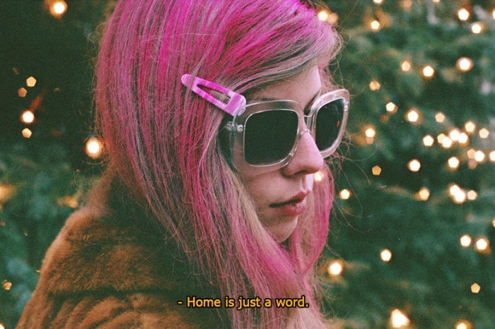 film, girl, glasses, hair, home