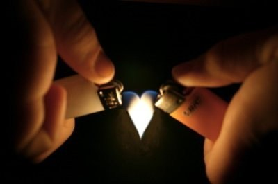 fire, heart, lighters, love