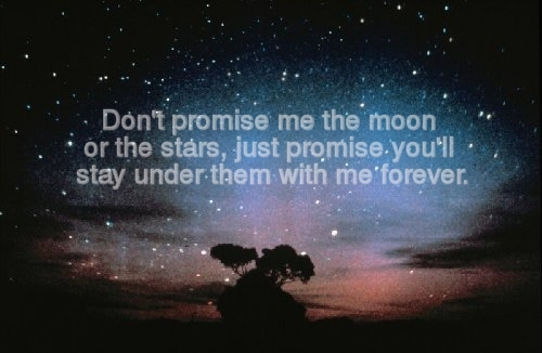 forever, love, moon, promise, star