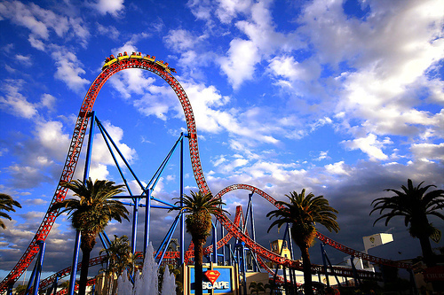 fun, park, photography, roller coaster, sky