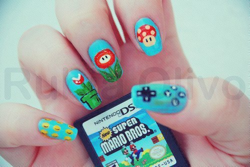funn, nails, nintendo, super mario bros