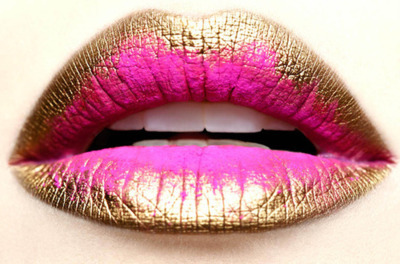 glitter, gold, lips, magic, pink