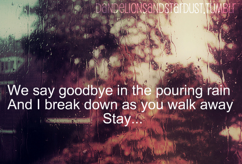 goodbye love lyrics: