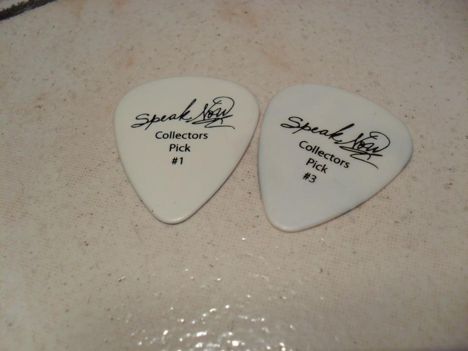 guitar pick, speak now, taylor swift