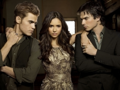 ian somerhalder, nina dobrev, paul wesley, the vamparie diaries
