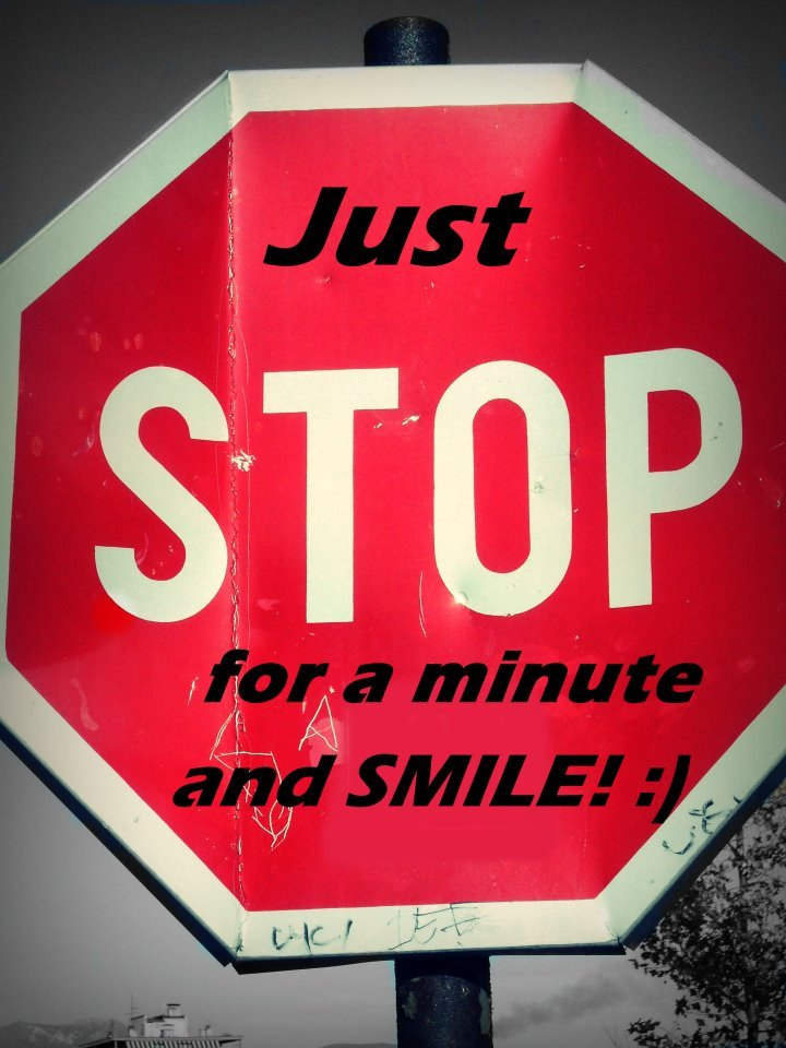 minute, smile, stop, text