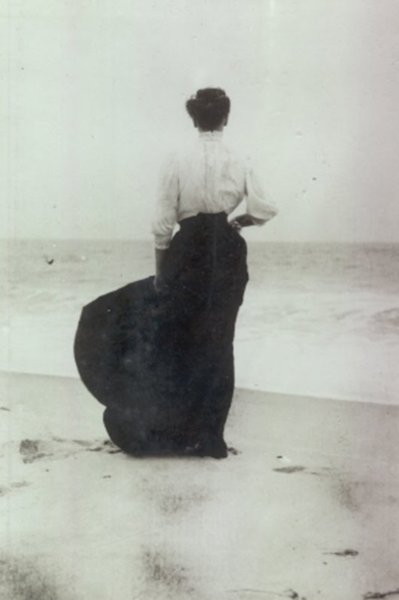 1905, beach, calm, clothes, depression