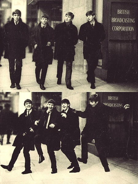 60s, black and white, boys, george harrison, guys