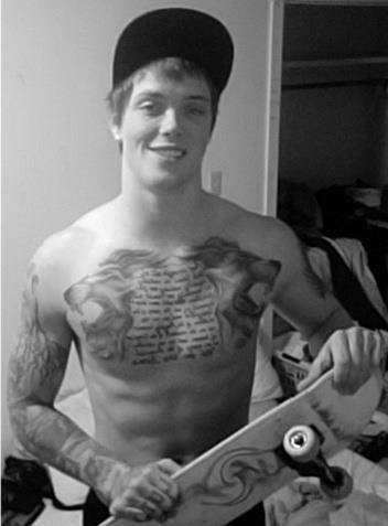abs, boy, boys, chest piece, cute, cute guy, guy, knuckle tattoos, lion, live, love, man, men, photograph, sexy, sexy man, skate, skateboard, skateboarder, sleeve, tattoo, tattooed guy, tattoos, vintage